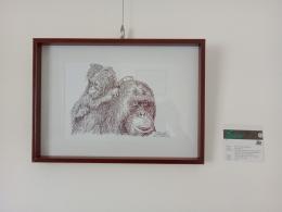 Karya Andi Yudha dengan teknik one line drawing.