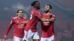 Para pemain Manchester United sedang merayakan gol ke gawang Southampton (3/01). Sumber: Kumparan.