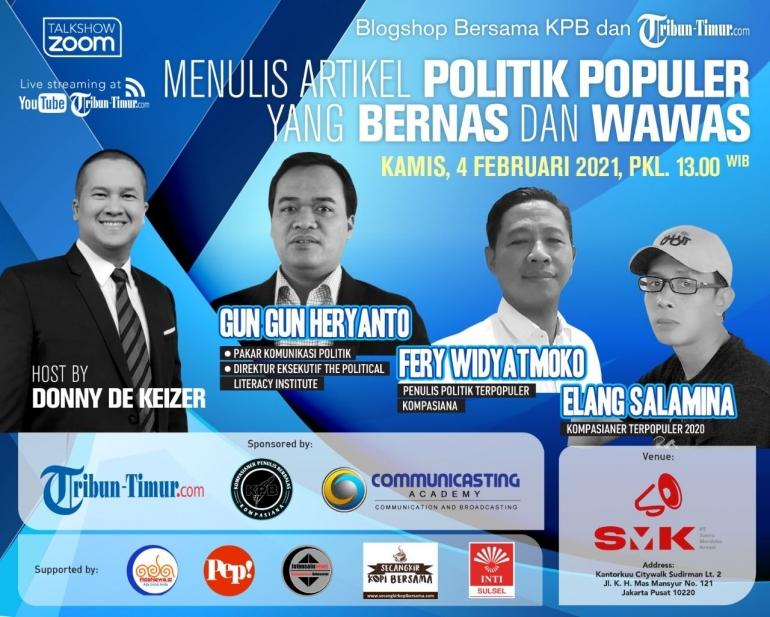 Blogshop Bersama KPB dan Tribun-timur.com: Menulis Artikel Politik yang Bernas dan Mawas (Sumber: Properti KPB)