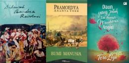 Buku Karya Bung Karno, Pramoedya Ananta Tour, dan Tere Liye (Sumber gambar: https://www.goodreads.com, https://kumparan.com, https://gramemedia.com)