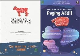 Ilustrasi: Buku panduan dan Poster mengenai daging ASUH.