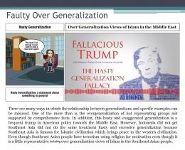 Penjelasan faulty over generalization. Sumber gambar : Dokumen pribadi