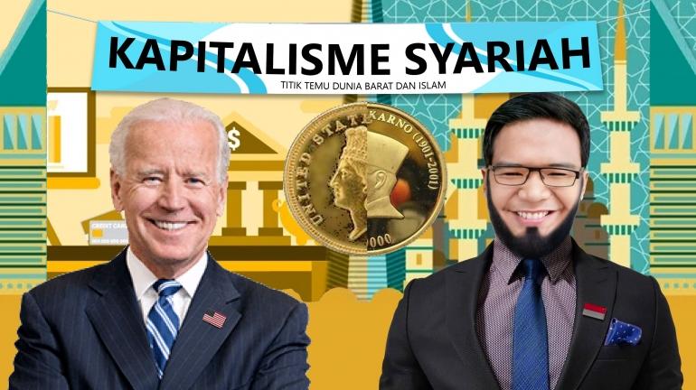 Kapitalisme Syariah Titik Temu Dunia Barat dan Dunia Islam. Gambar : Canva/ Abdurrofi Abdullah Azzam