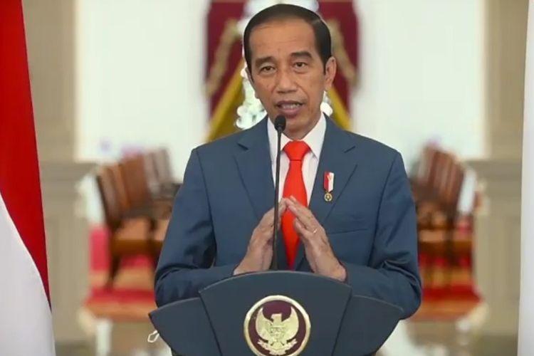 Presiden Jokowi saat memberikan sambutan dies natalis UI ke-71(DOK.Universitas Indonesia)[Melalui Kompas.com]
