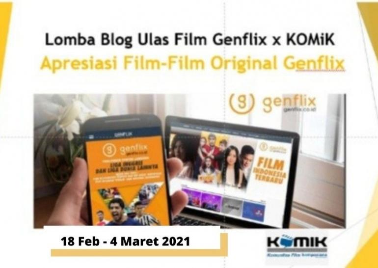 Lomba Blog KOMiK berkolaborasi dengan Genflix (dok. KOMiK)