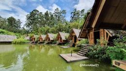 Restoran Purbasari. Makan di tepi danau dengan hidangan khas Sunda (Foto : koleksi pribadi)