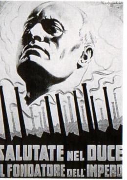 Italian fascist propaganda poster