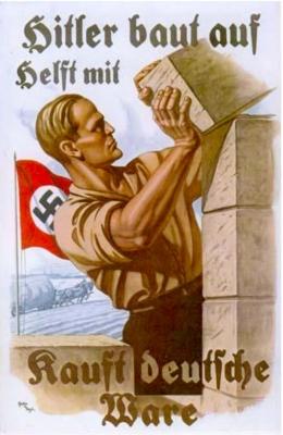 Nazi Germany propaganda poster