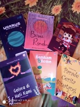 Buku-buku antologi hasil pelatihan dan lomba, dokpri