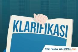 Ilustrasi klarifikasi (KOMPAS.com/AKBAR BHAYU TAMTOMO)