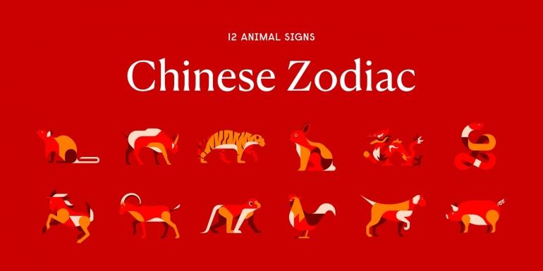 Ilustrasi 12 Zodiak Hewan atau Shio | Foto: chinesenewyear.net