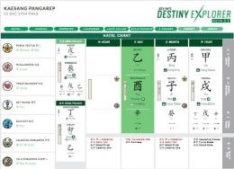 mengetahui kepribadian Shio seseorang menggunakan sistem hasta aksara atau BaZi () | Foto: Joey Yap's Destiny Explorer