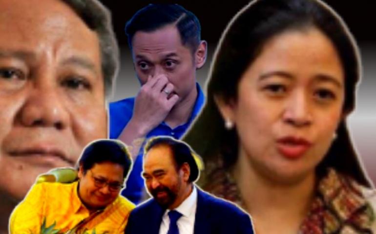 Sumber : Prabowo-Puan dan AHY: Tribunnews.com - Surya Paloh Airlangga: Liputan6.com - edit: Elang Salamina