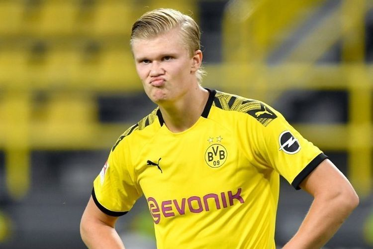 Striker Borussia Dortmund Erling Braut Haaland. (AFP/ELMAR KREMSER)