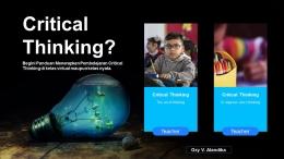Pembelajaran Berpikir Kritis (Dok. Pribadi)