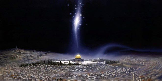 Ilustrasi Gambar: Perjalanan Isra Mi'raj (Sumber:https://mediabanten.com)