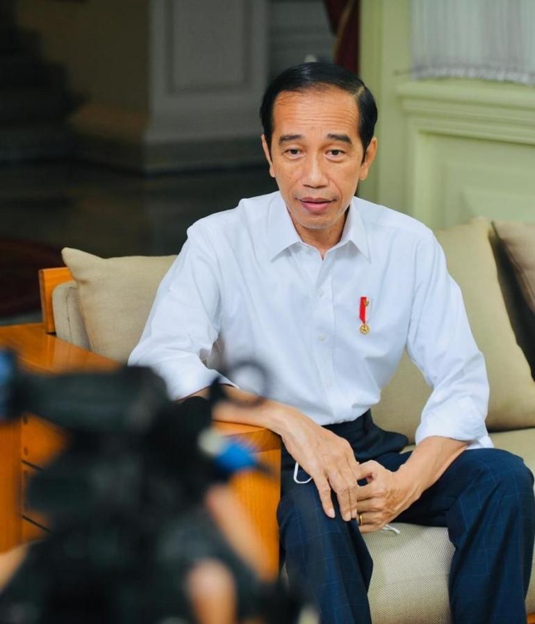 Jokowi saat memberi klarifikasi tentang isu perpanjangan jabatannya / sumber: twitter.com/jokowi