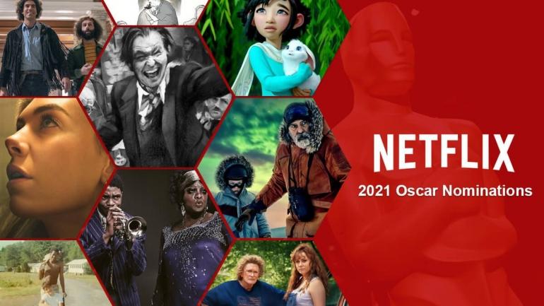 Film-film Netflix meraih nominasi terbanyak di ajang Piala Oscar 2021 (doc. What's on Netflix)