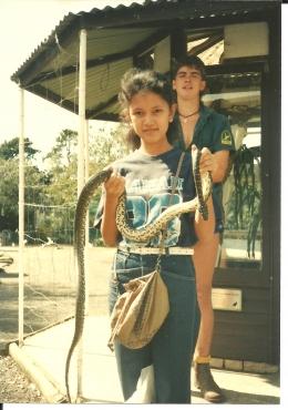 Dokumentasi pribadi/Ular adalah hewan liar yang banyak terdapat di Australia, dan banyak jenis ular yang tidak terdapat di benua yang lain. Hewan ini hidup liar, apalagi di benua yang penuh dengan hutan, padang pasir dan padang rumput!