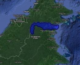 Peta Kabupaten Nunukan lokasi gajah kerdil - Peta Google