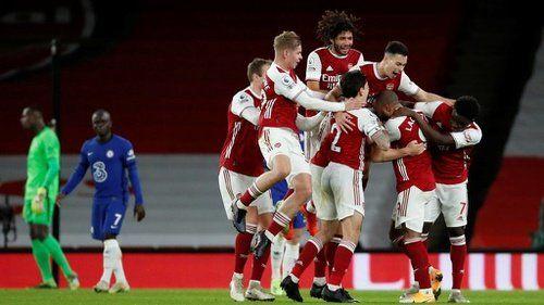 Arsenal lolog ke babak 8 besar liga Eropa musim 2020/2021. Foto dari Tirto.id.
