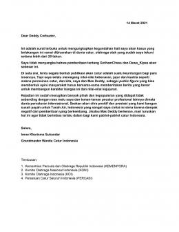 Surat Terbuka Irene Kharisma kepada Deddy Corbuzier