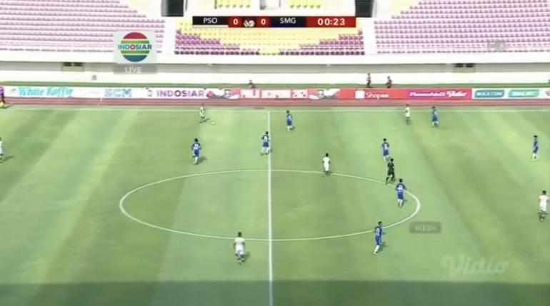 Laga Persikabo 1973 vs PSIS Semarang. Sumber: Indosiar