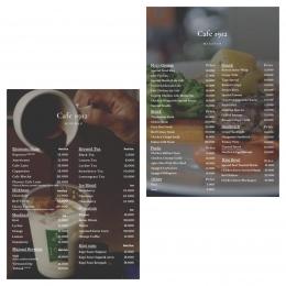 Daftar menu Cafe 1912 UMY - doc. Instagram @cafe_1912_
