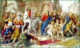 Yesus masuk kota Yerusalem ( katolik.com )