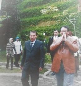 ket.foto: bersama Brigjen. Pol. Taufik Effendi yang waktu itu masih aktif sebagai MenPan/dokumentasi pribadi