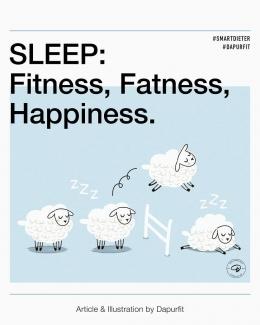 Manfaat tidur ketika diet (sumber: instagram Dapurfit)