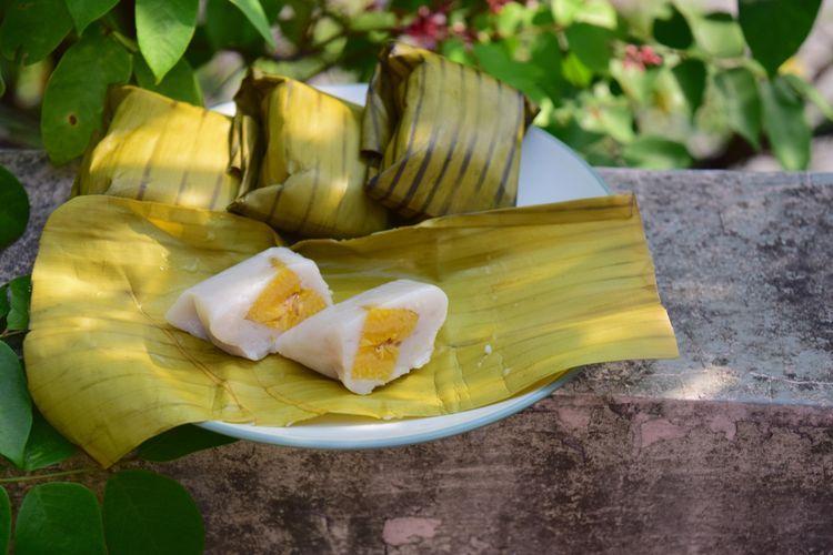Ilustrasi nagasari, kue basah tradisional Indonesia. (SHUTTERSTOCK/AMALLIA EKA)