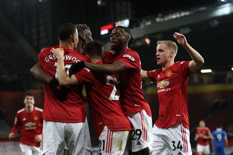 Pemain Manchester United merayakan gol ke gawang Brighton & Hove Albion. (via thebusbybabe.sbnation.com)