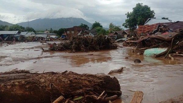 Banjir Bandang Kabupaten Flores Timur, NTT (ANTARA FOTO/HUMAS BNPB) via detik.news.com