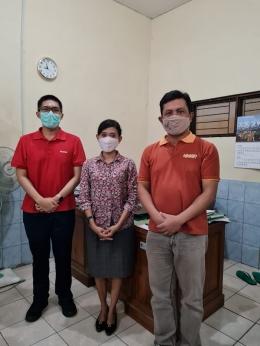 Saat penulis bertemu Pak Kabid UMK Salatiga, Pak Yudi dan Petugas PPKL Mas Andika Dwiarta / Foto : Mas Andika Dwiarta