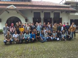 Berkunjung ke Gedung Indonesia Menggugat-Bandung dalam kegiatan Geladi Hominisasi, Tema Kebangsaan belajar dari gelora Pemuda Soekarno - dokpri