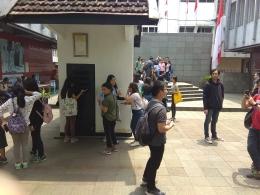 Salah satu kegiatan Geladi Hominisasi-Tema Kebangsaan Belajar dari Bung Karno-Napak Tilas ke Penjara Banceuy Bandung-Dokpri