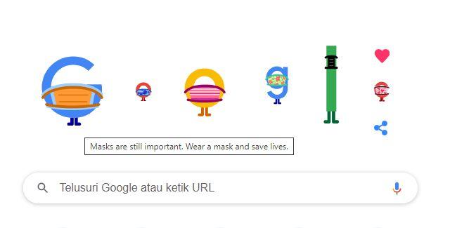 Tangkapan layar Google Doodle pada Selasa, 6 April 2021.