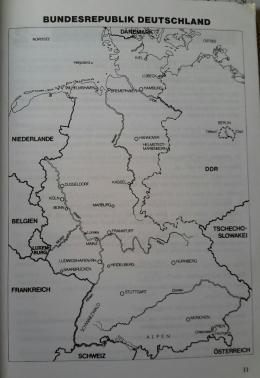 Peta Negara Jerman, bidik layar Buku Auf Deutsch gesagt (Dok.Pri)