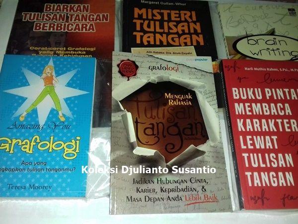 Beberapa buku grafologi atau ilmu tulisan tangan (Dokpri)