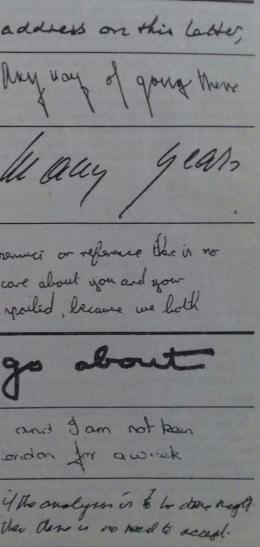 Aneka bentuk dan ukuran tulisan tangan (Foto: Misteri Masa Depan Anda hlm. 29)