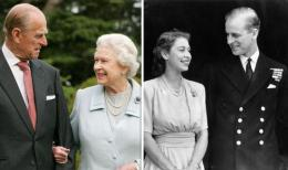 Pangeran Philip dan Ratu Elizabeth II di masa muda dan tua mereka (Sumber: thenews.com.pk)
