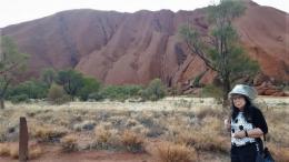 Warna Uluru tergantung jam dan cuacah hari  tersebut (dok pribadi)