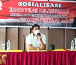 Sosialisasi Senator Lukky Semen. Doc Eko