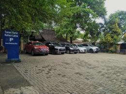 Dok.pribadi / parkiran di Taman Kuliner Laksa