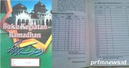 Buku kegiatan ramadhan. (prfmnews.pikran-rakyat.com)
