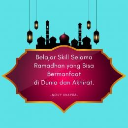 Belajar Skill Selama Ramadhan yang Bisa Bermanfaat di Dunia dan Akhirat. (sumber : desain dari pngtree.com)
