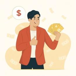Menghasilkan dan mengelola uang. Sumber:freepik.com