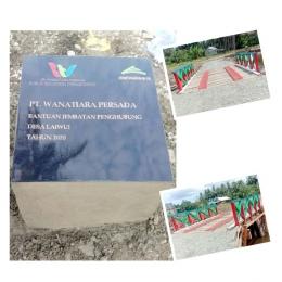 Bantuan jembatan penghubung desa Laiwui (foto:CSR PT WP)