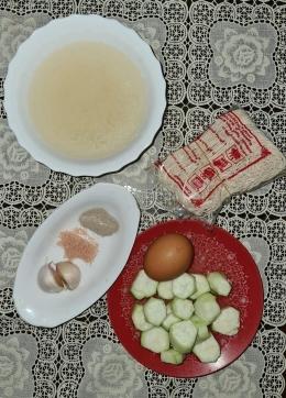 Bahan Sup Oyong. Sumber: Dokpri